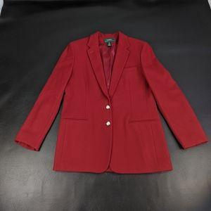 RALPH LAUREN Dark Red Wool Blazer